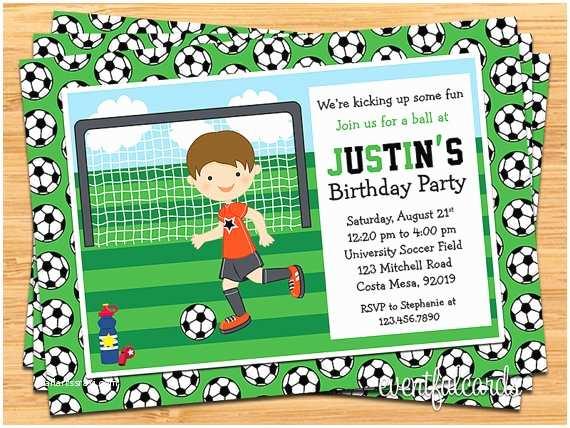 Soccer Party Invitations Items Similar to Boys soccer Birthday Party Invitation On Etsy