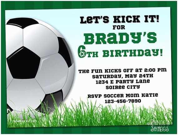 Soccer Party Invitations soccer Invitation Printable Football Birthday Invite