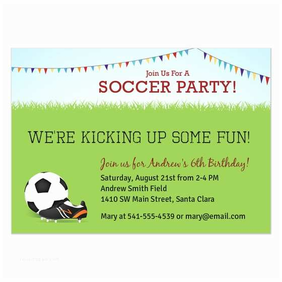 Soccer Party Invitations soccer Party Invitations & Cards On Pingg