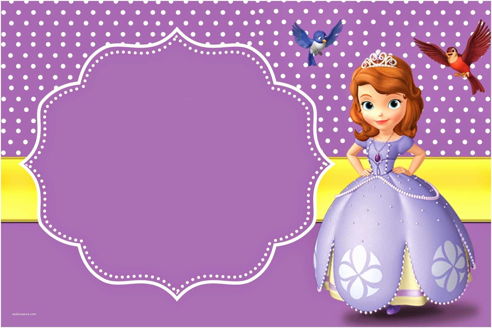 Sofia The First Birthday Invitations 8 Best Of Free Printable