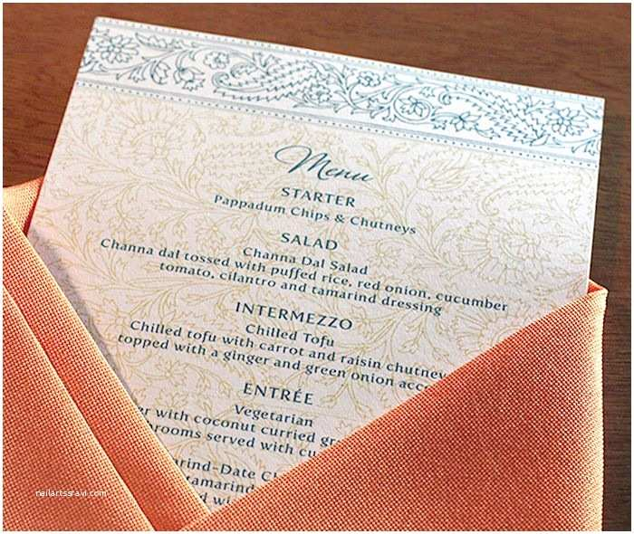 South asian Wedding Invitations 17 Best Images About Reception Menus On Pinterest