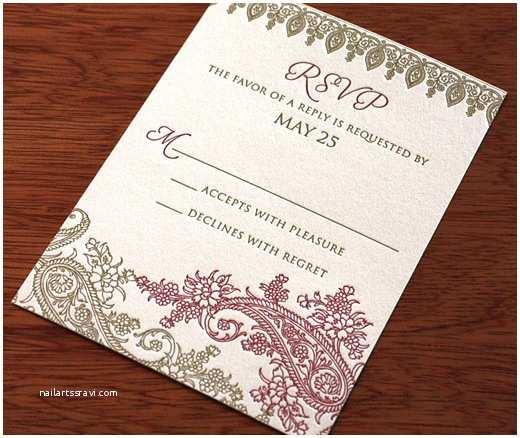 South asian Wedding Invitations Hima Indian Wedding Card Design