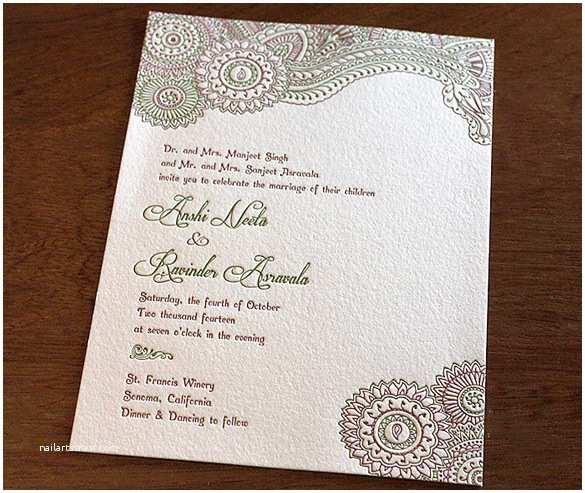 South asian Wedding Invitations Indian Wedding Invitation Envelopes Wording Yaseen for