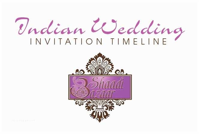 South asian Wedding Invitations Shaadi Bazaar Indian Wedding Invitation Timeline