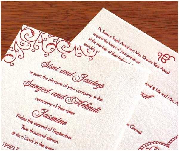 South asian Wedding Invitations Sikh Wedding Invitations Wedding Decor Ideas