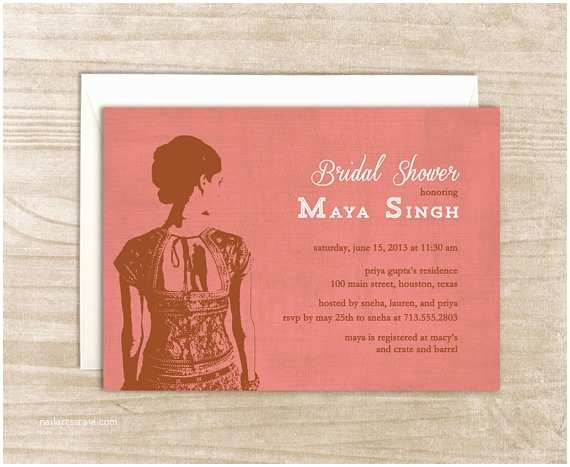 South asian Wedding Invitations south asian Bride Invitation by Craftcouturestudios On Etsy