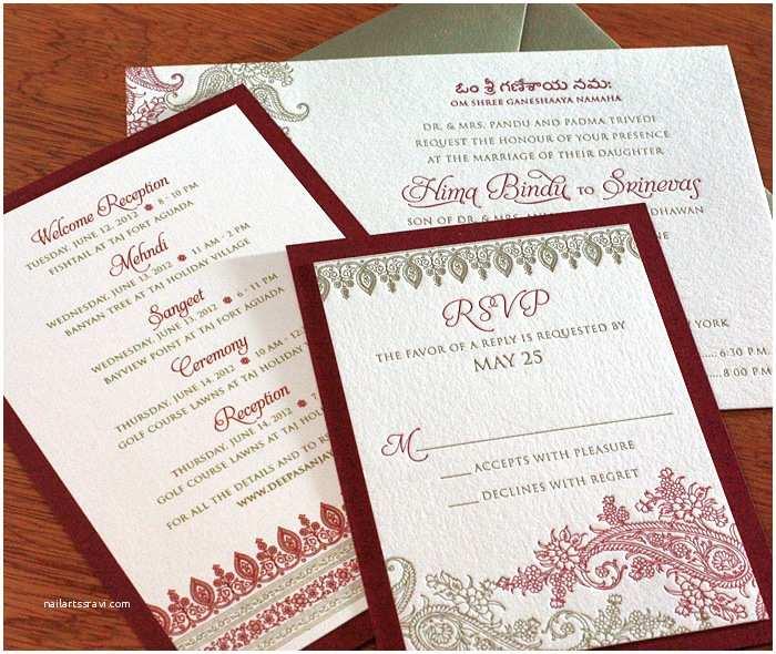 South asian Wedding Invitations south asian Invitation