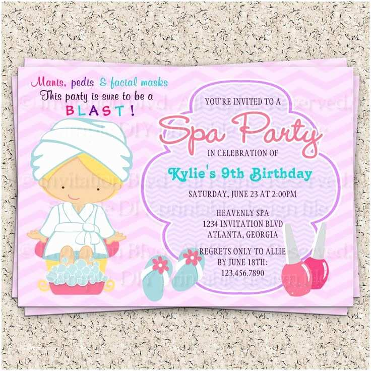 Spa Birthday Party Invitations 138 Best Spa at Home Images by Mary Hood On Pinterest
