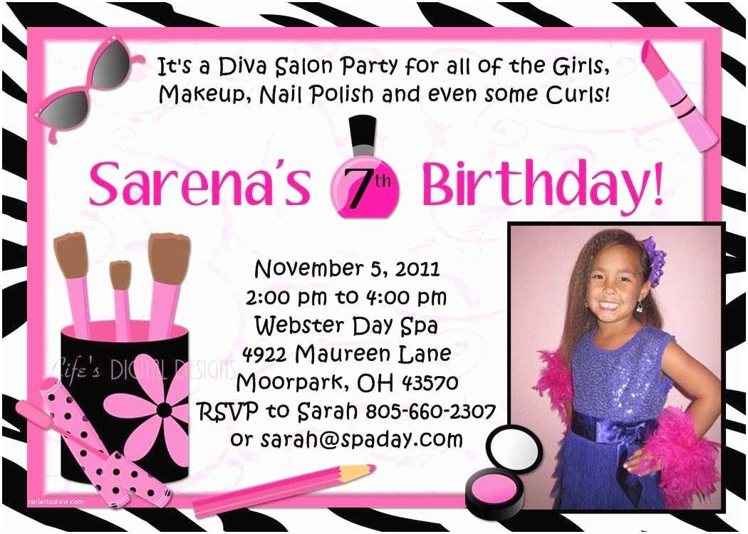 Spa Birthday Party Invitations Making Spa Party Invitations
