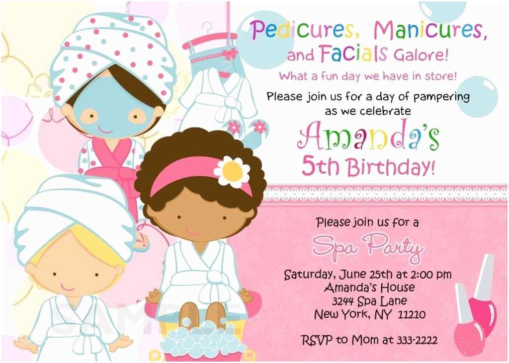 Spa Birthday Party Invitations Spa Birthday Party Invitations Printables Free