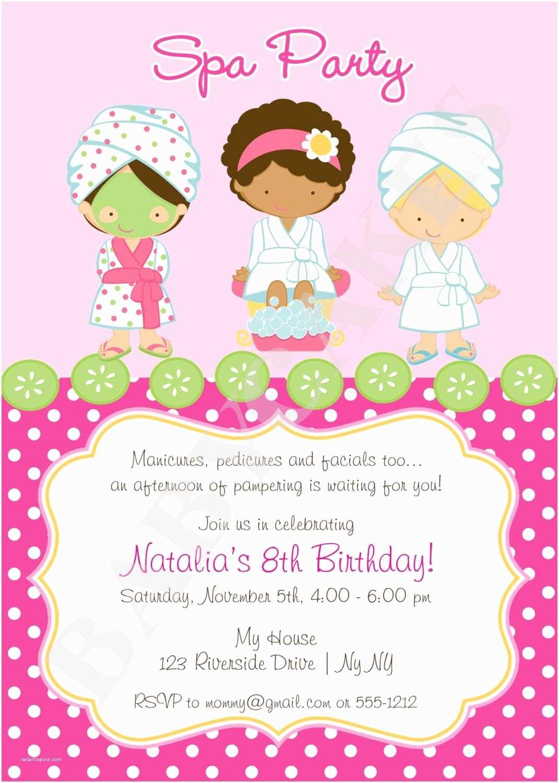 Spa Birthday Party Invitations Spa Party Invitation