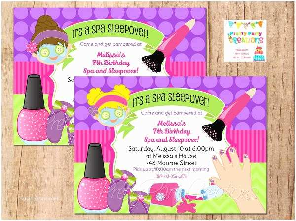 Spa Birthday Party Invitations Spa Party Invitation Template – orderecigsjuicefo