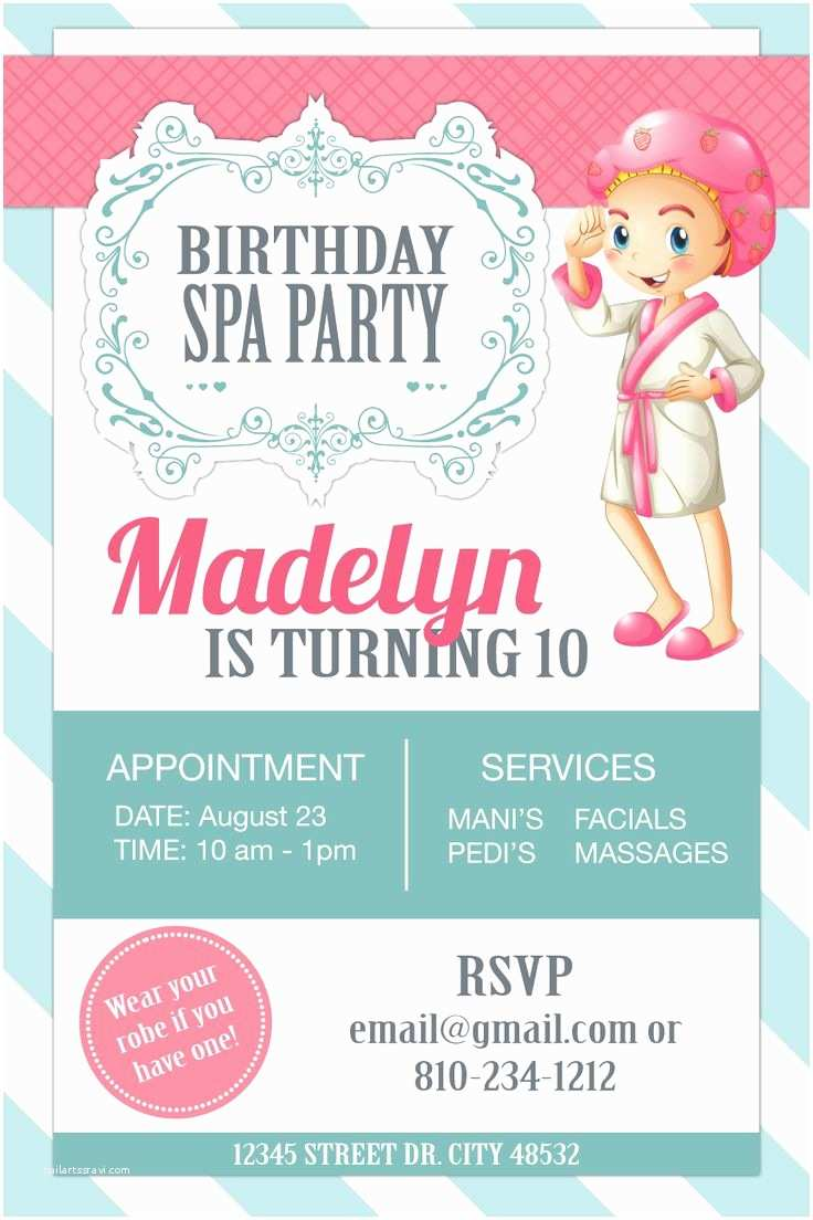 Spa Party Invitations Best 25 Spa Party Invitations Ideas On Pinterest