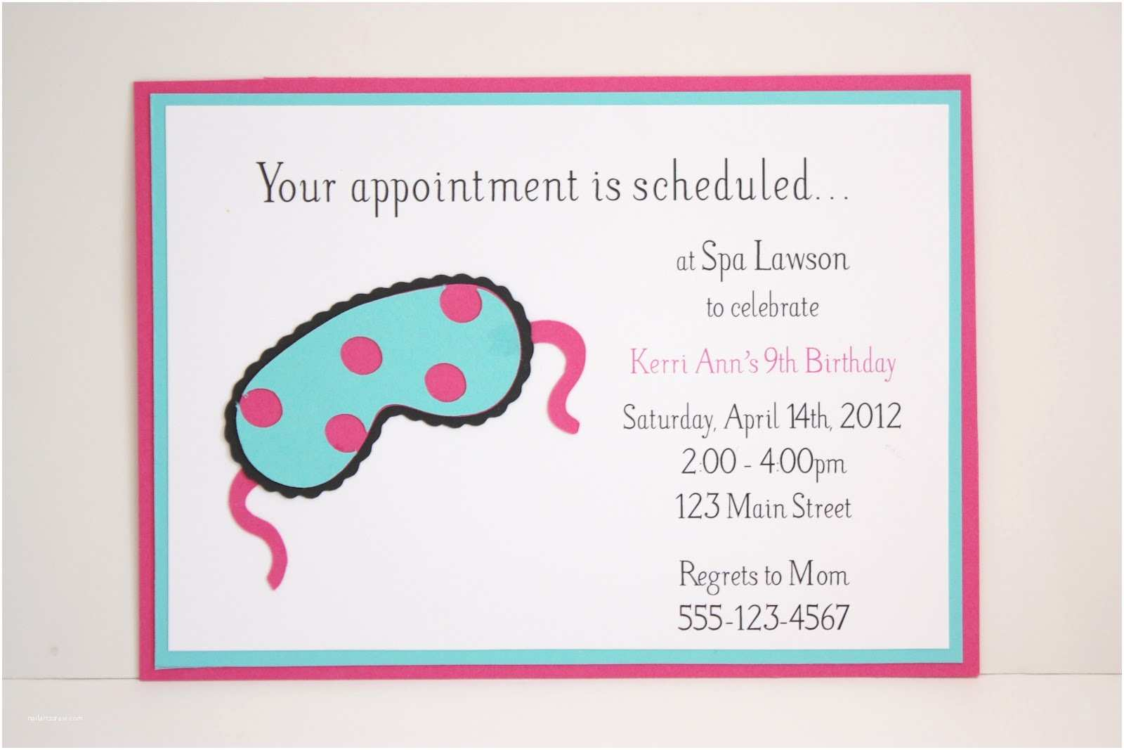 Spa Party Invitations Free Girl Spa Party Invitations