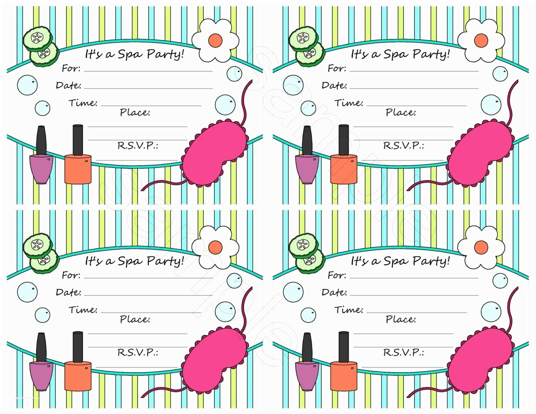 Spa Party Invitations Girls Spa Party Invitation Wording Nailartssravi