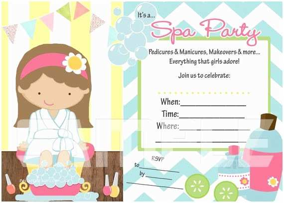 Spa Party Invitations Need An Invitation Fast Try This Fill In the Blank Spa