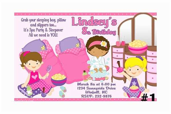 Spa Party Invitations Spa Party Invitations Spa Party Invitations Nail Polish