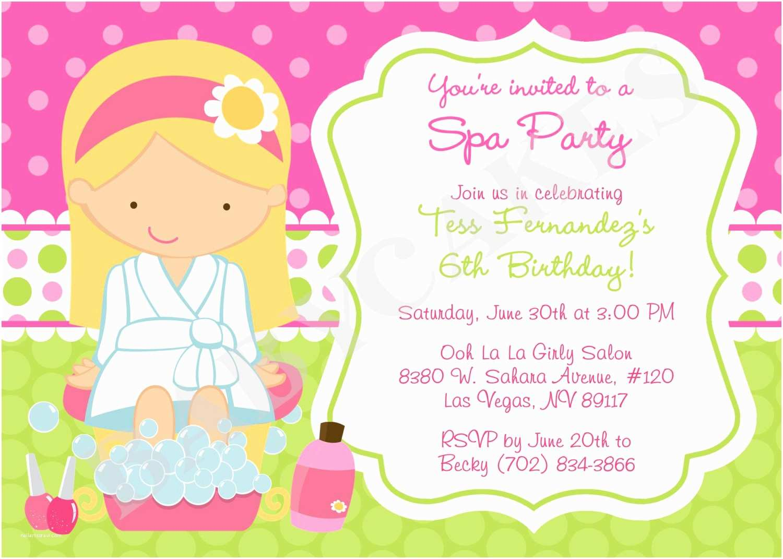 Spa Party Invitations Spa Party Invitations Spa Party Invitations with