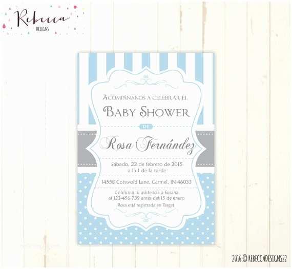 Spanish Baby Shower Invitations Baby Shower Invitation In Spanish Boy Baby Shower Spanish