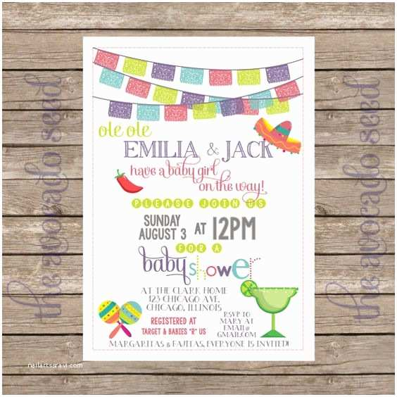 Spanish Baby Shower Invitations Ole Ole A Baby Girl is On the Way Mexician Spanish Fiesta