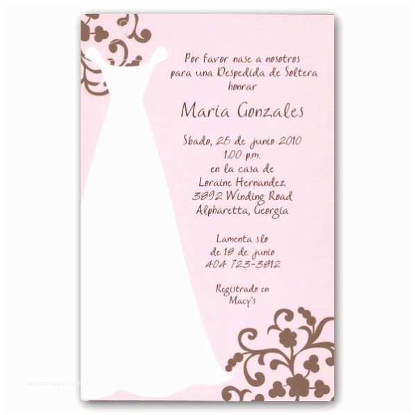Baby Shower Invitation In Spanish