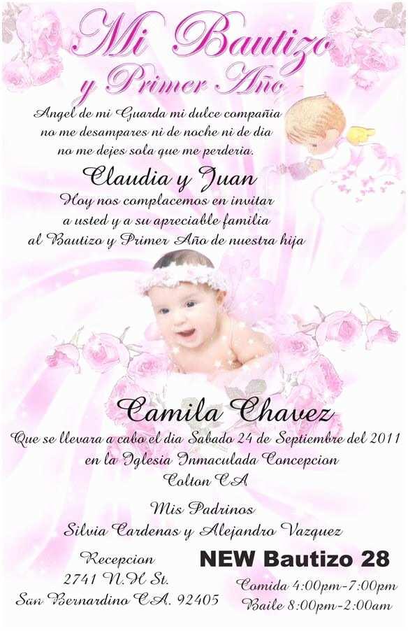 Spanish Baptism Invitations Baptism Invitation In Spanish Invitations
