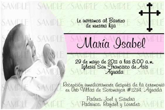 Spanish Baptism Invitations Baptism Invitations In Spanish