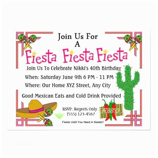 Spanish Party Invitations Fiesta In