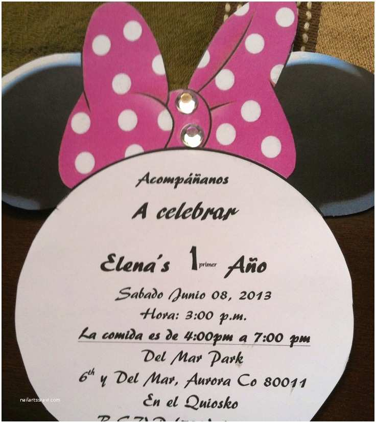 Spanish Party Invitations Invitations Spanish Minnie Mouse Party