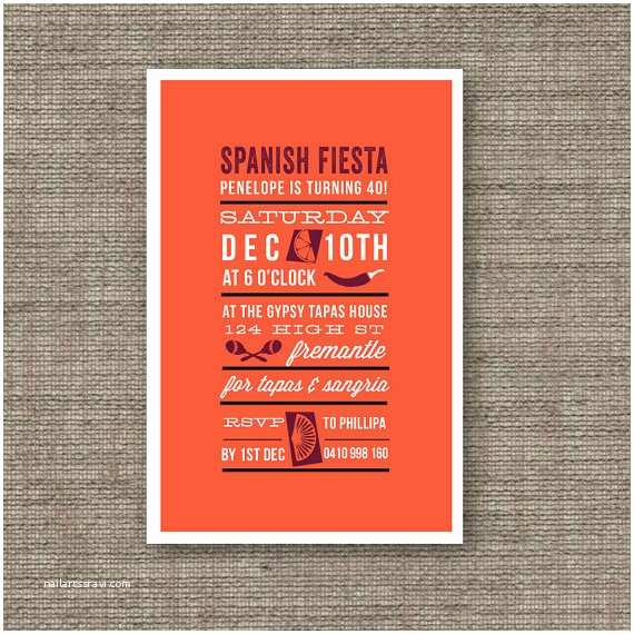 Spanish Party Invitations Birthday Invitations In Spanish