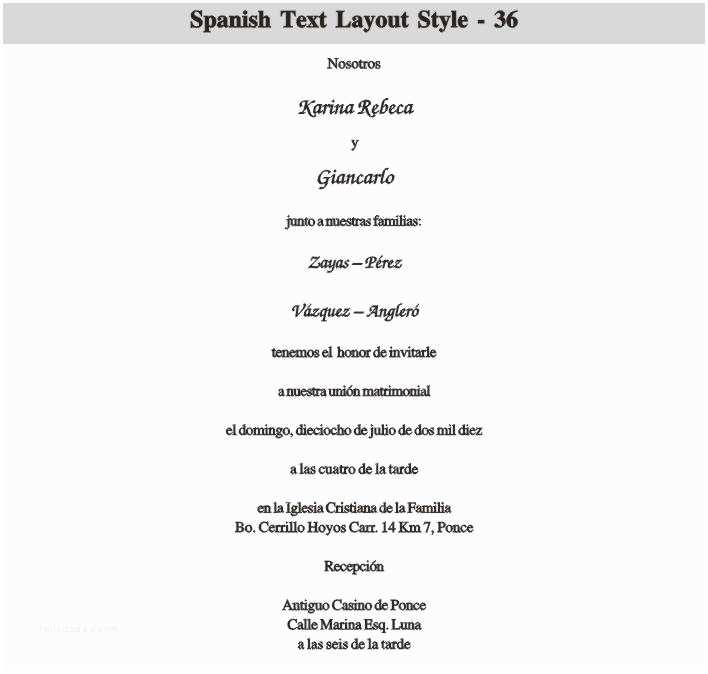 Spanish Wedding Invitation Wording See All This Spanish Wedding Invitation Wording