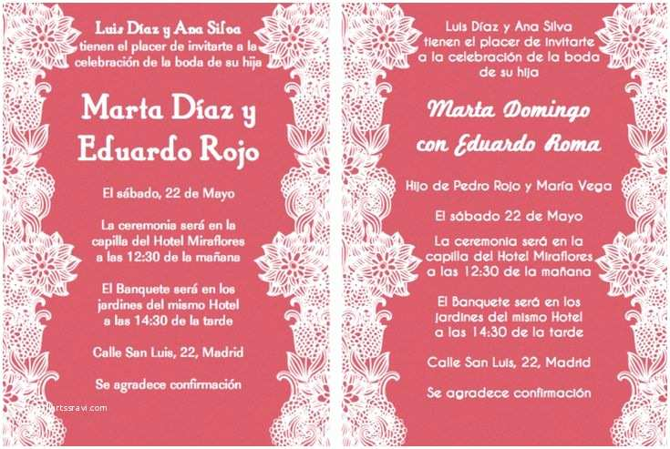 Spanish Wedding Invitation Wording Spanish Wedding Invitation Wording