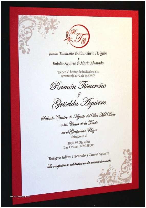 Spanish Wedding Invitation Wording the Radiant Red Invitation Spanish by thefunkyolive On