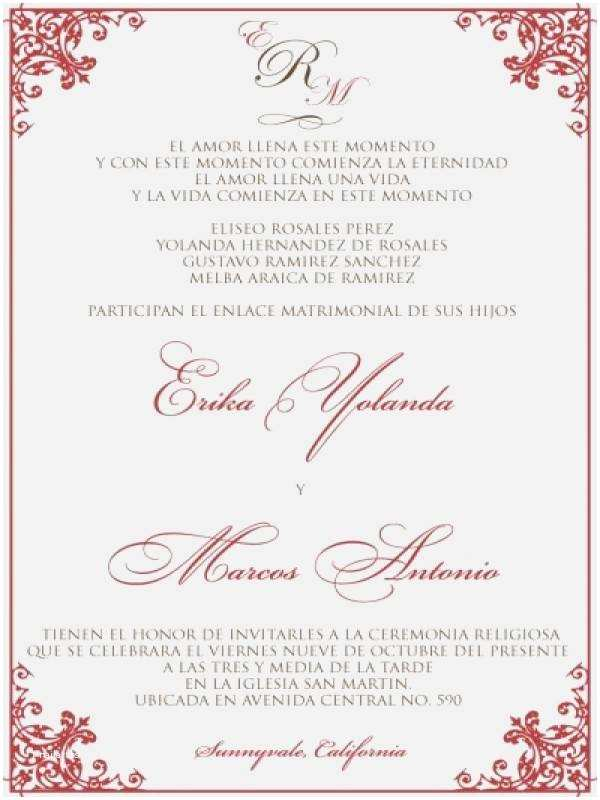 Spanish Wedding Invitation Wording Wedding Invitation Spanish Wording