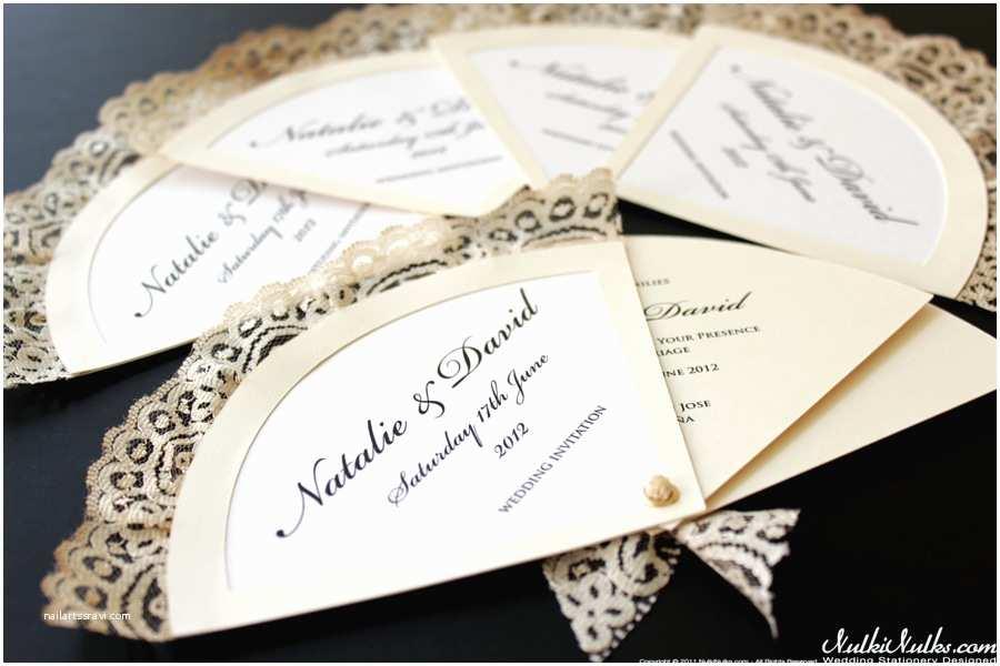 Spanish Wedding Invitations Spanish Fans Wedding theme