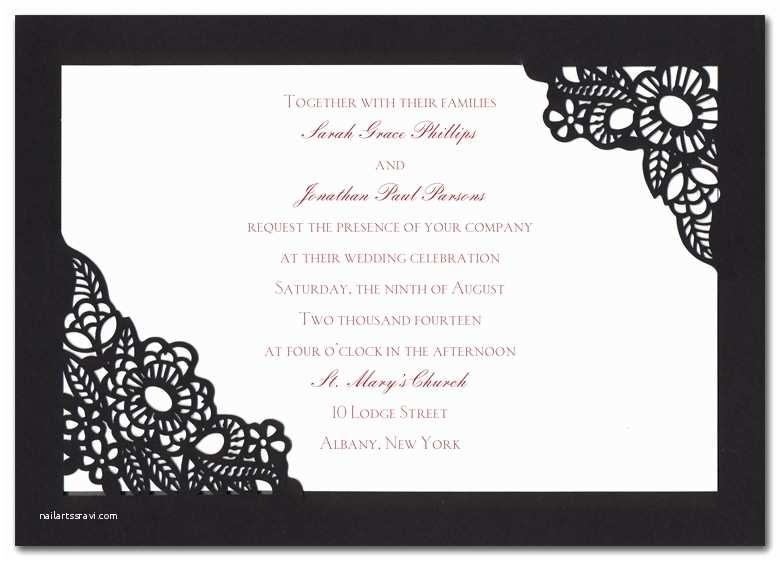 Spanish Wedding Invitations Spanish Lace Wedding Invitations by Invitation