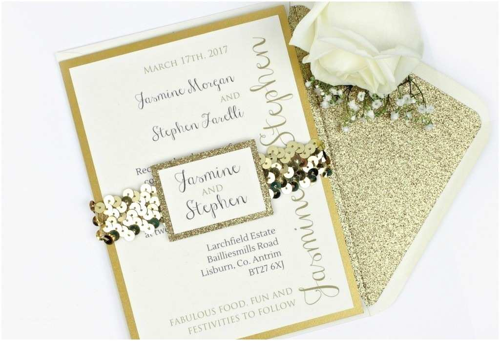 Sparkly Wedding Invitations Glitter Wedding Invitation Luxe Gold Love Storey Weddings