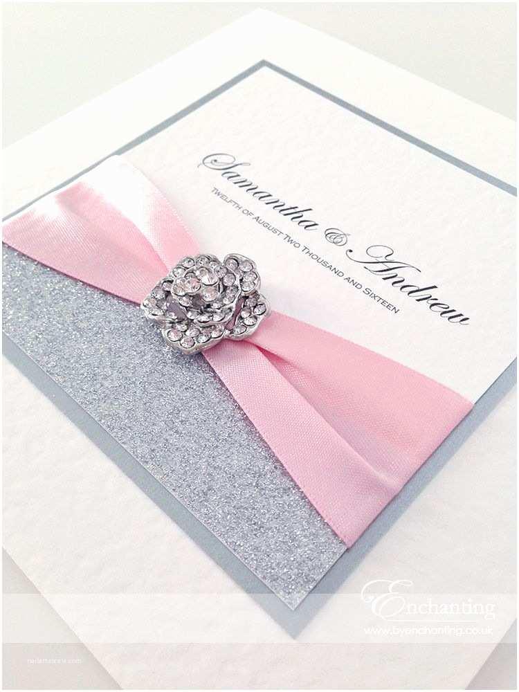 Sparkly Wedding Invitations Pink Sparkly Wedding Invitations