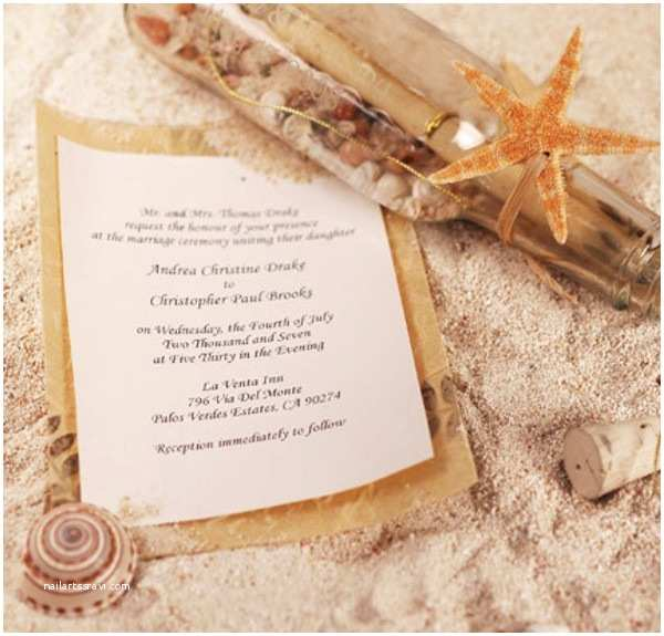 Special Wedding Invitation Wording Seal and Send Beach Wedding Invitations to Set the tone