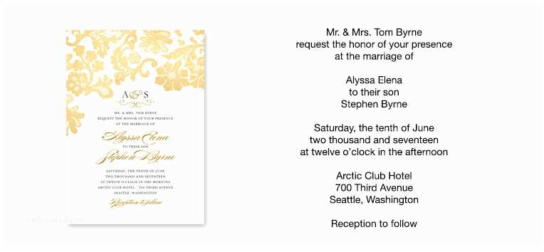 Special Wedding Invitation Wording Wedding Invitation Wording Examples
