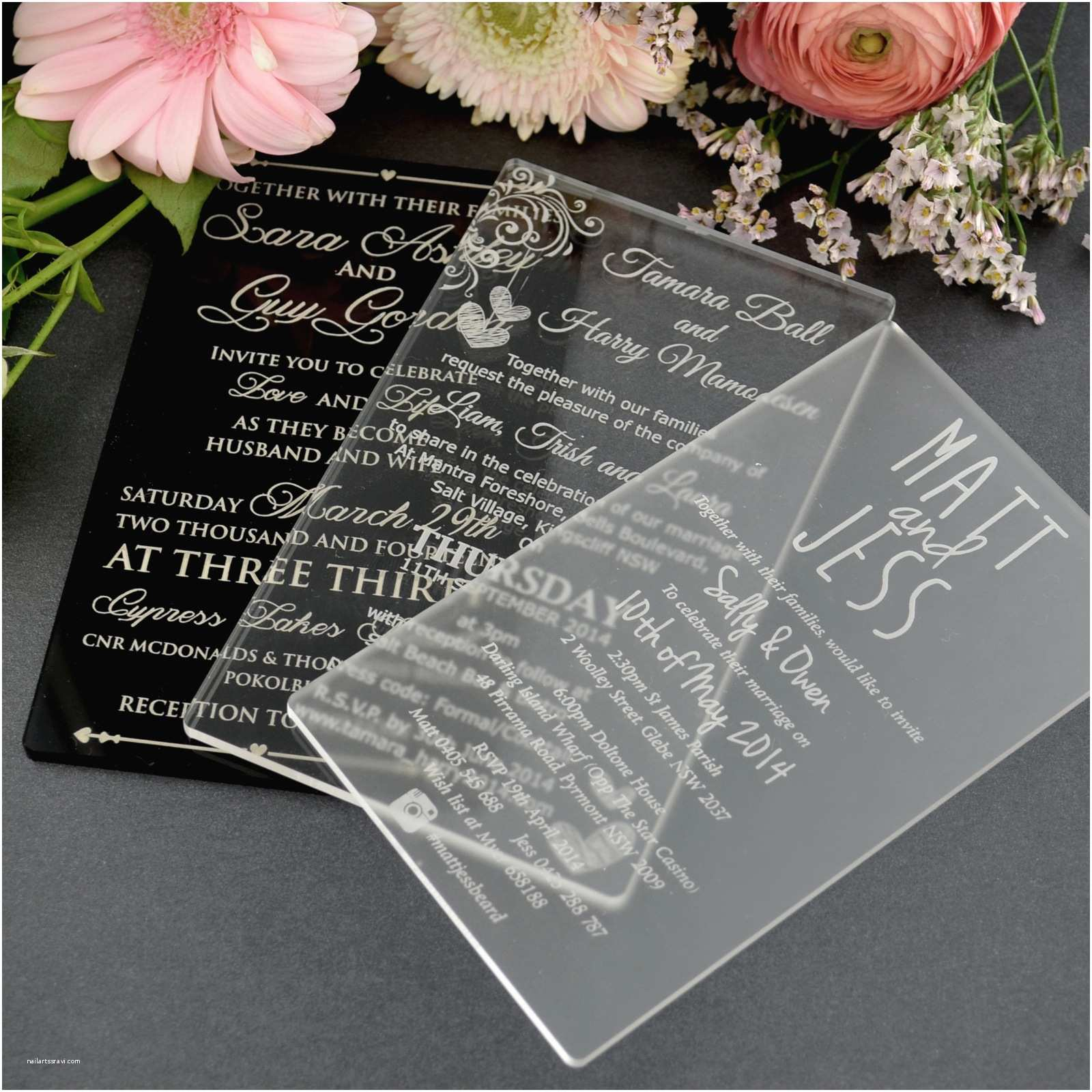 Special Wedding Invitations 11b Engraved Acrylic Wedding Invitations Unique Wedding