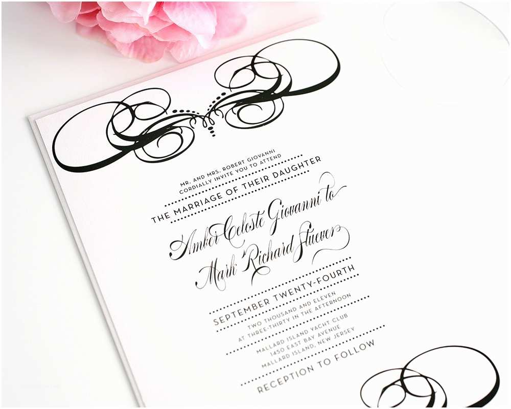 Special Wedding Invitations Unique Wedding Invitations In Black and White – Wedding