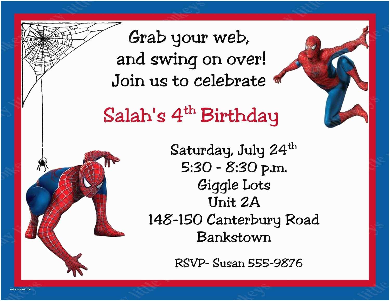 Spiderman Birthday Invitations 10 Spiderman Birthday Invitations with Envelopes Free Return