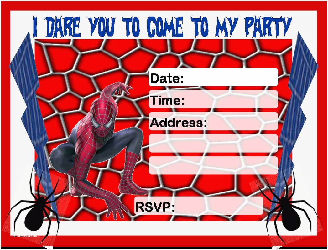 Spiderman Birthday Invitations Invitation Free Printable