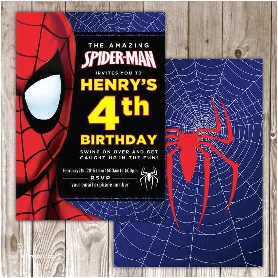 Spiderman Birthday Invitations Digital File Invitation