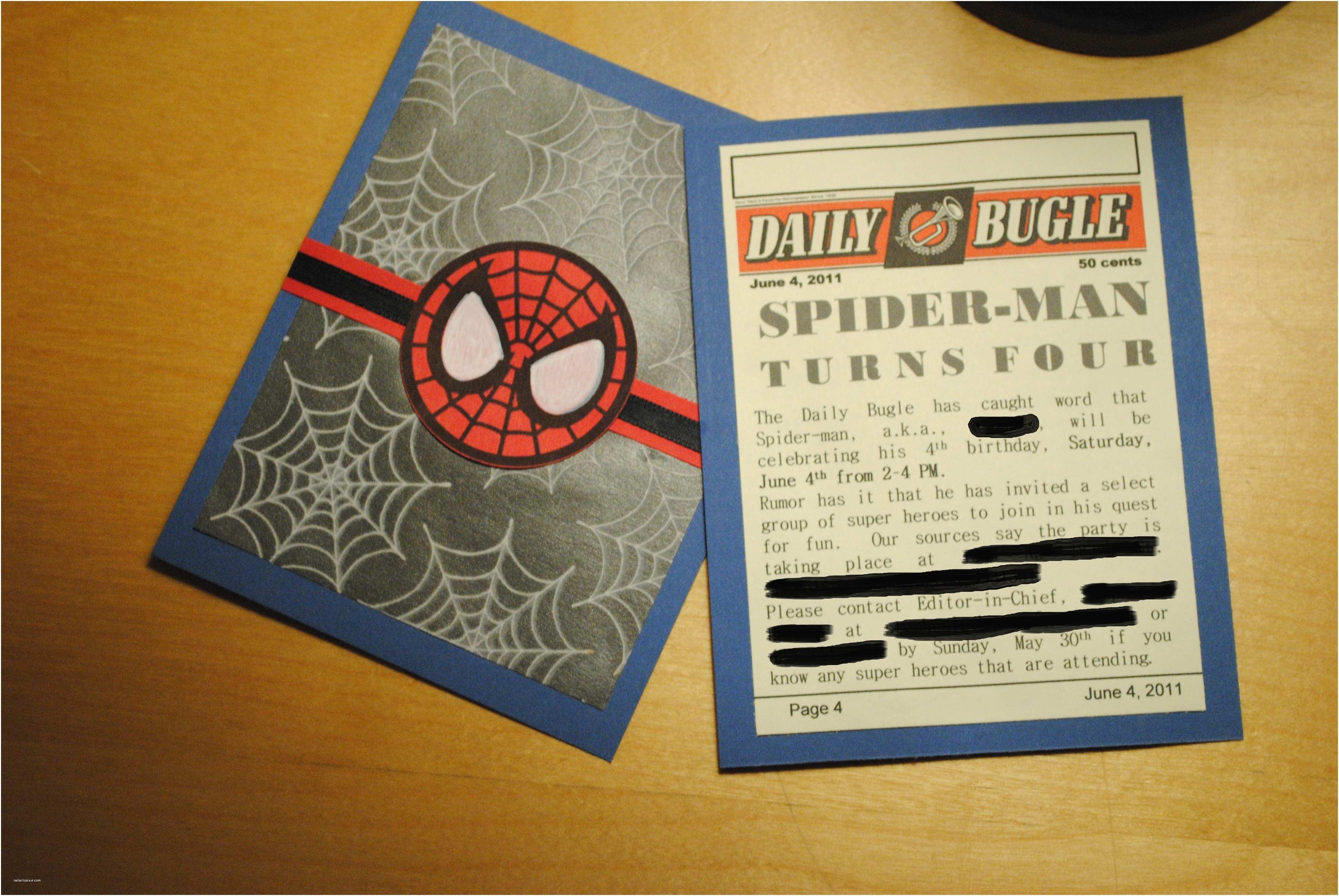 Spiderman Birthday Invitations Diy Spiderman Birthday Card Search Results