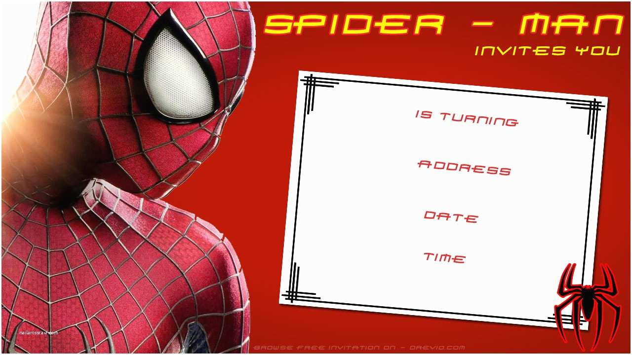 Spiderman Birthday Invitations Free Printable Blank Invitation