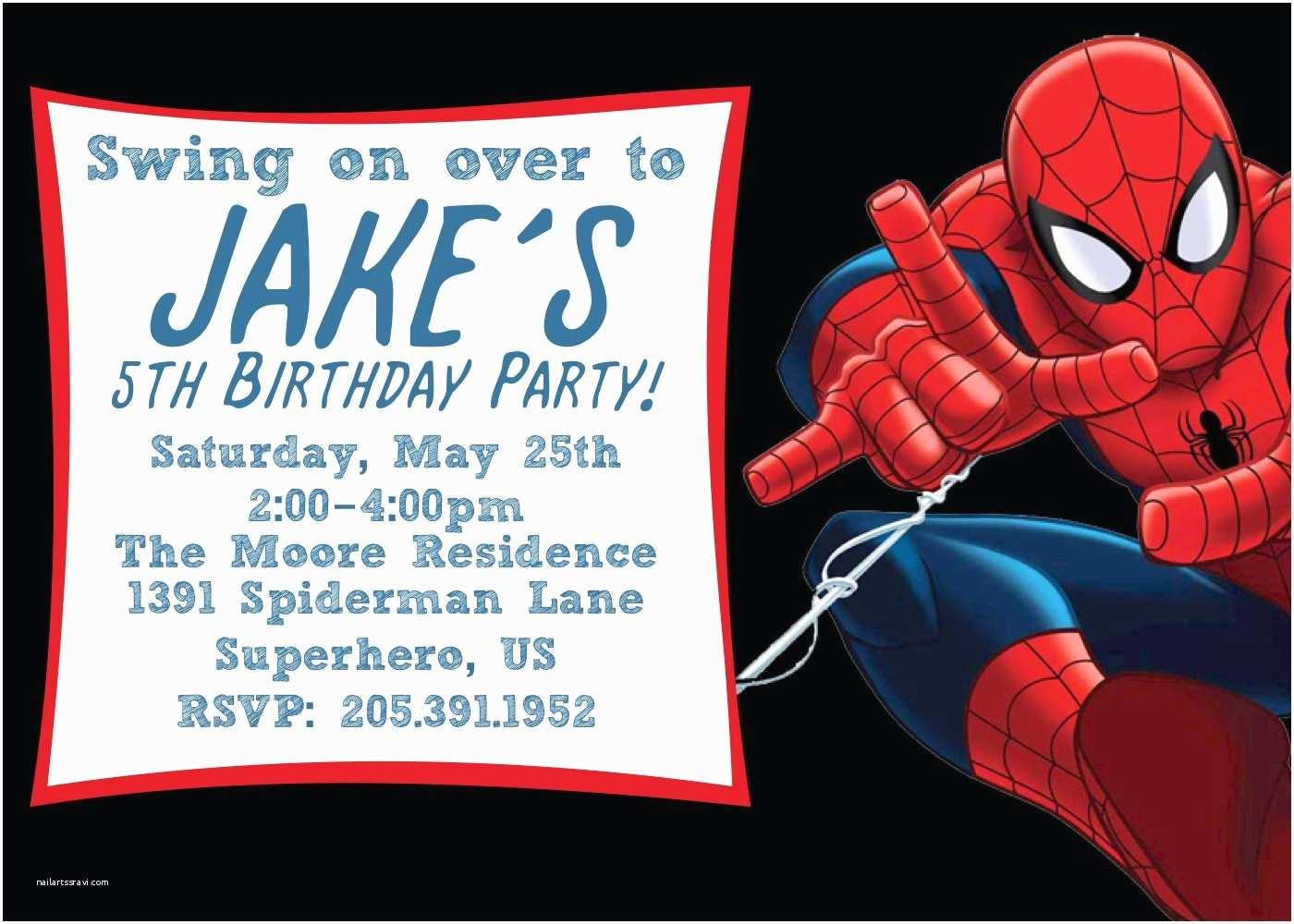 Spiderman Birthday Invitations top 20 Spiderman Birthday Party Invitations