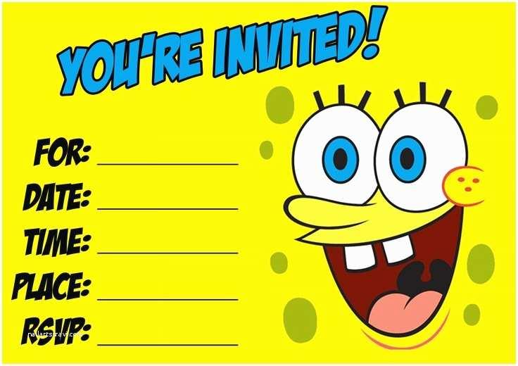 Spongebob Birthday Invitations 17 Best Images About Spongebob Birthday Party On Pinterest