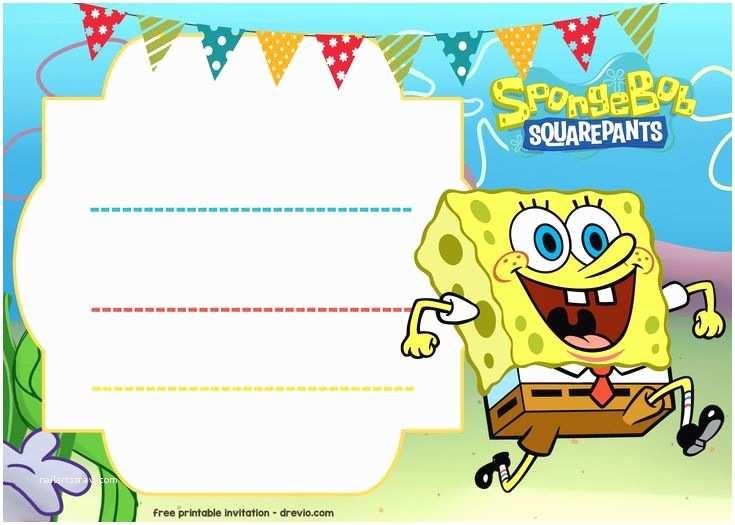 Spongebob Birthday Invitations Best 25 Free Birthday Invitation Templates Ideas On